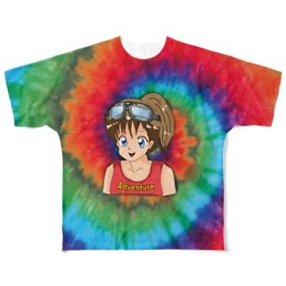 Adventure Girl Full graphic T-shirts