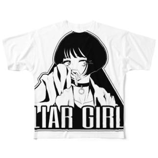 嘘つき女子 Full graphic T-shirts