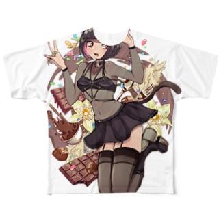 チョコレート Full graphic T-shirts