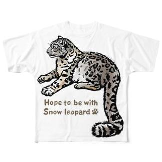 Snow leopard*ユキヒョウをまとうTシャツ Full graphic T-shirts