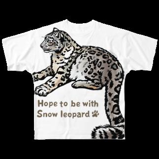 MUSEUM LAB SHOP MITのSnow leopard*ユキヒョウをまとうTシャツ Full graphic T-shirts