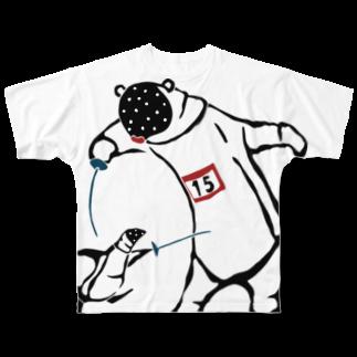 スポーツする動物たち のフェンシング Fencing Full graphic T-shirts
