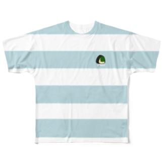 ボーダーTシャツ(昆布) Full graphic T-shirts