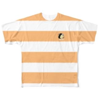 ボーダーTシャツ(鮭) Full graphic T-shirts