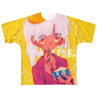TKG-れいんのたべものしりーず Full graphic T-shirts
