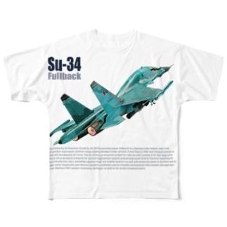 Su-34 Fullback フルバック Full graphic T-shirts