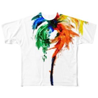 異国の花 Full graphic T-shirts