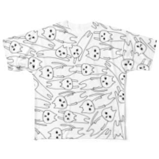 とびネコ Full graphic T-shirts