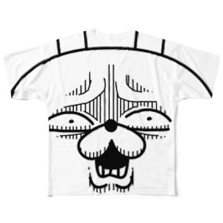顔芸うさぎ は?ver. Full graphic T-shirts