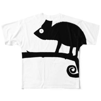 CHAMELEON ペアTシャツ Mサイズ Full graphic T-shirts