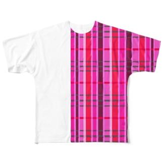 チェック 要チェックや~! さりげない Ver. Full graphic T-shirts