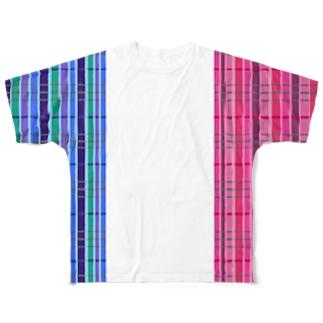 チェック 要チェックや~! 両側 Ver. Full graphic T-shirts