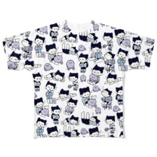 たまらなくねむいTシャツ Full graphic T-shirts