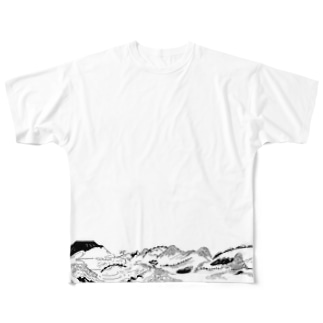 over the mountain Full graphic T-shirts