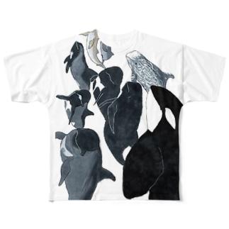 ゴンドウづくし Full graphic T-shirts