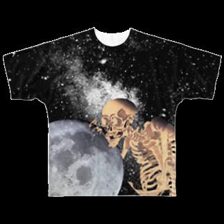 ごーちゃんのがしゃどくろとつき   Full graphic T-shirts