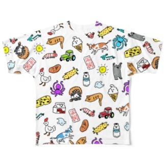 いってらっしゃい Full graphic T-shirts