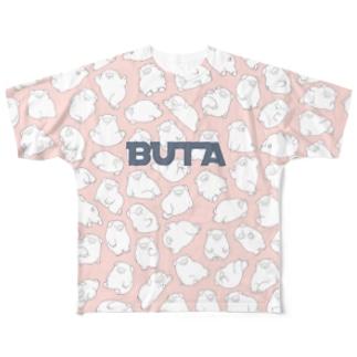 ぶたまみれ Full graphic T-shirts