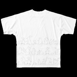 石川ともこのさんぽダンス グレーライン Full graphic T-shirts