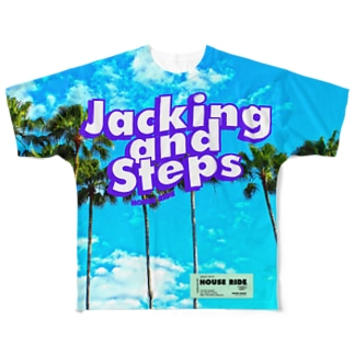 JACKING AND STEPS パームツリー Full graphic T-shirts