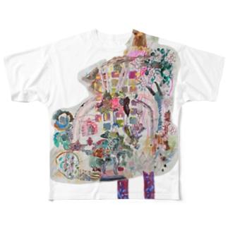 ふかふかひゅーっのひと Full graphic T-shirts