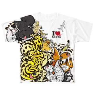 レオパ両面 Full graphic T-shirts