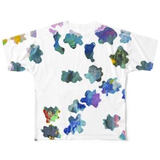 ゆめのひのらくがき Full graphic T-shirts