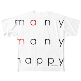 many many happy(フルグラフィック) Full graphic T-shirts