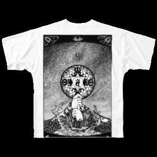 イトスク の星空と大日 Full graphic T-shirts