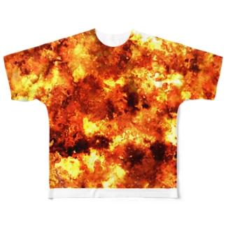 バーン Full graphic T-shirts