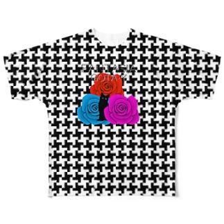 FANTASIA~黒猫と薔薇 Ⅱ Full graphic T-shirts