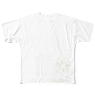 待ってる女の子 Full graphic T-shirts