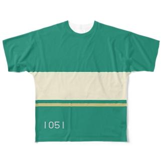 【青ブタっぽい】江ノ電1000形1051号車っぽい Full graphic T-shirts