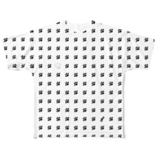 肉球ドット Full graphic T-shirts