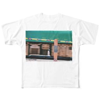 電車でもいいんじゃない? Full graphic T-shirts
