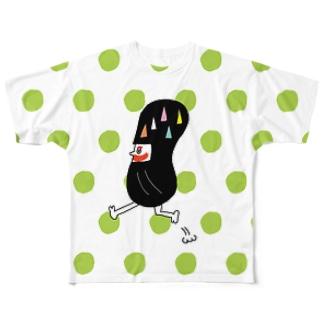 だるま忍者(ライトグリーン) Full graphic T-shirts