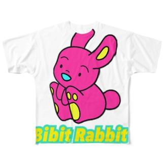ビビットなラビット Full graphic T-shirts