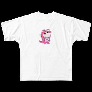 jk_0719_09のかいじゅうしんちゃん Full graphic T-shirts
