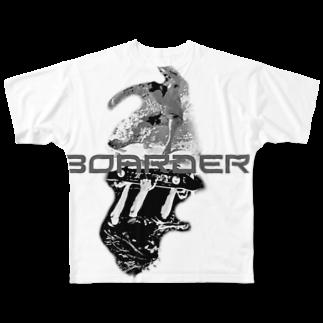 Slidriveのsurf VS sk8er T-Shirits Full graphic T-shirts