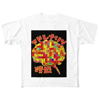 アドレナリン噴出 Full graphic T-shirts