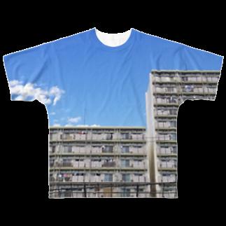 尾崎復活のI住宅 Full graphic T-shirts
