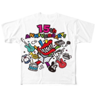 chisa128710の15周年✩ロゴ Full graphic T-shirts