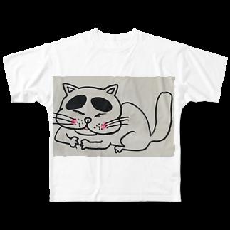 nyazzのにゃチン Full graphic T-shirts