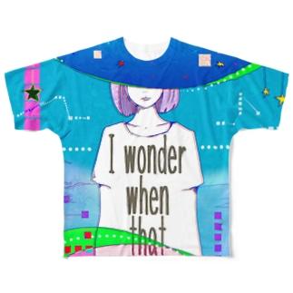なで肩うさぎの美香堂のいつになったら終わるのかしら? Full graphic T-shirts