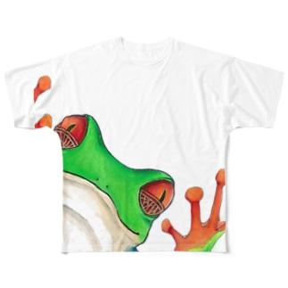 アカメアマガエルくん Full graphic T-shirts