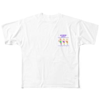 肩もみサークル Full graphic T-shirts