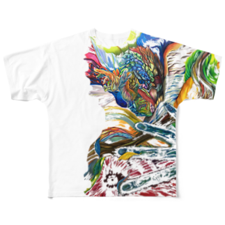 色鉛筆 Life Timeのエネルギー Full graphic T-shirts