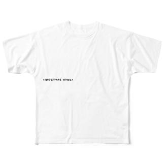 SENGEN T-shirt (WHITE2) Full graphic T-shirts