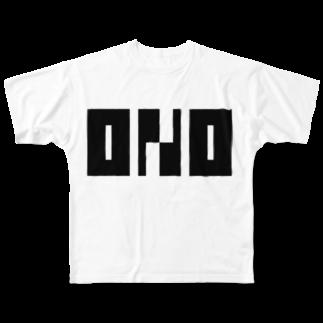 小野便利店のONO_002 Full graphic T-shirts