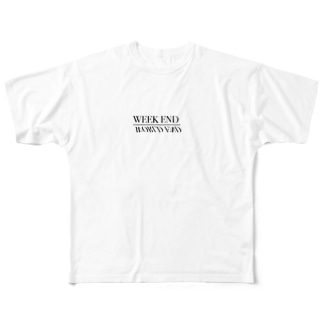 weekend _worldend Full graphic T-shirts